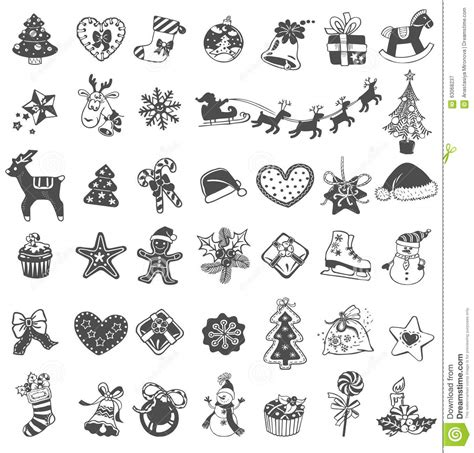 doodle icons free vectors doodle icons stock vector image 63068237