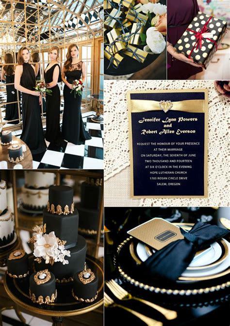 29 luxurious black and gold wedding ideas glitter