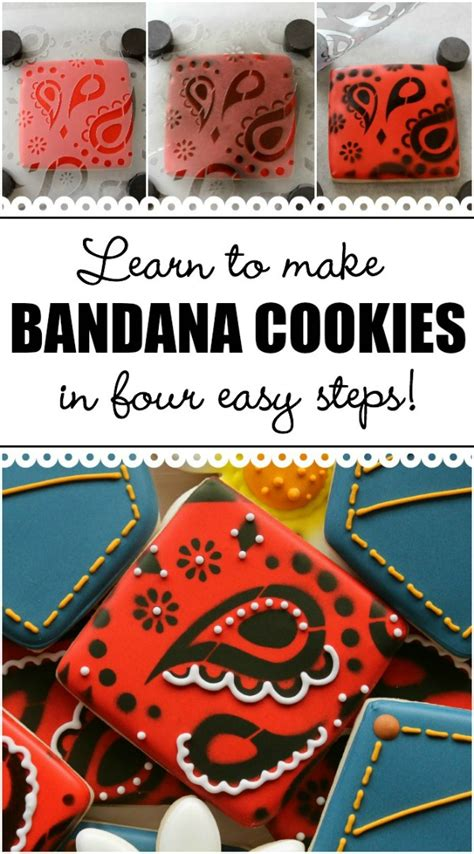 Learn To Earn From Printmaking easy bandana print cookies the sweet adventures of sugar