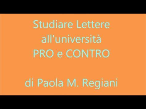 studiare lettere all universit 224 pro e contro della