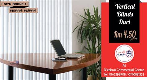 Harga Window Blind by Harga Murah Vertical Blinds Bidai Gulung Tirai Gulung