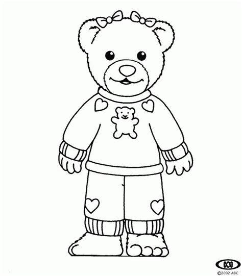 teddy bear in pajamas coloring page 13 pics of preschool pajama coloring pages pajama