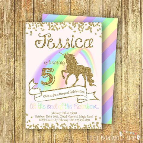 rainbows and sparkles birthday party ideas birthdays unicorn invitation pastel rainbow unicorn invite sparkle
