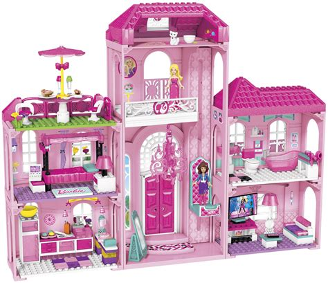 Mega bloks barbie build n style luxury mansion free shipping