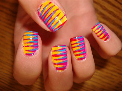 colorful nail easy colorful nail ideas makeup tips and fashion