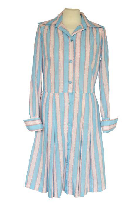 70s striped shirt dress