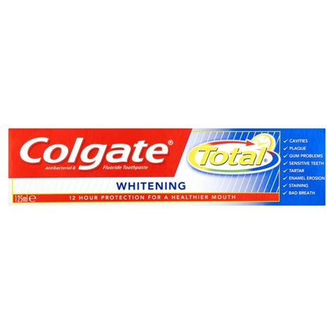best colgate toothpaste for whitening morrisons colgate total whitening toothpaste 125ml