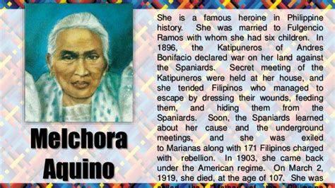 what is biography in filipino melchora aquino biography