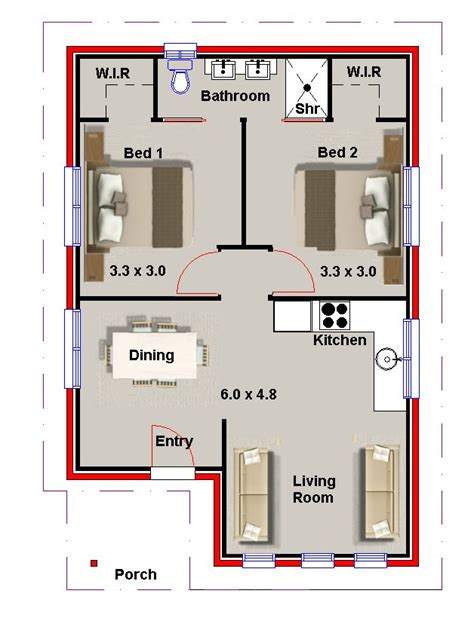granny flat floor plans 2 bedrooms affordable 2 bedroom granny flat kit home designs