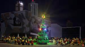 towering lego christmas tree comes to federation square