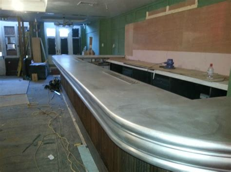 pewter bar top bar tops hopefield fabrications ltd