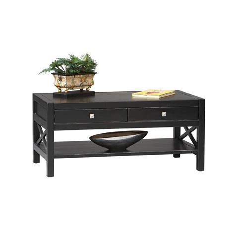 home decorators coffee table home decorators collection anna black coffee table