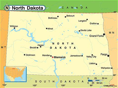 physical map of dakota dakota political map by maps from maps