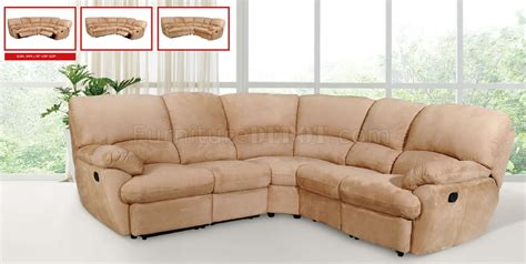 modern sectional with recliner light brown microfiber modern sectional sofa w recliner seats