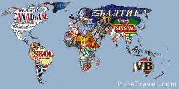 La carte du monde des marques de bi 232 re