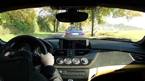 active cabin noise suppression 2011 bmw z4 navigation system bmw z4 sdrive 35is e89 dkg driving on tour youtube