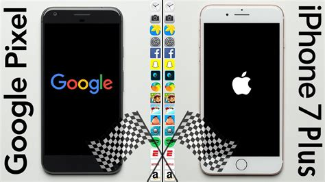 iphone   smokes googles pixel xl  speed test comparison