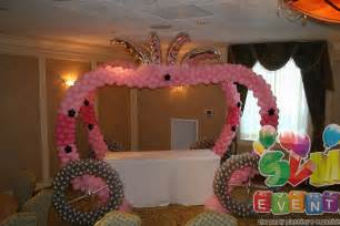 cinderella sweet 16 theme svm events chariot theme for 1st birthday and balloon decorations