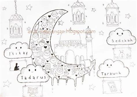 anak kesayangan gambar mewarnai tema ramadhan  syawal