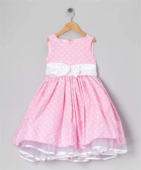 Dress Kid Ursula Polka kid fashion pink polka dot bow dress infant zulily k i d d