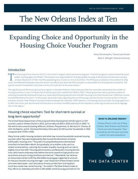 housing choice voucher program reports analysis the data center part 2