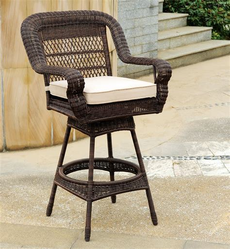 outdoor wicker bar stool fashionable outdoor wicker bar stools bedroom ideas and