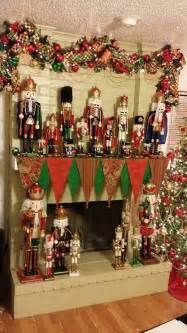 i m a little obsessed with nutcrackers and my mantle