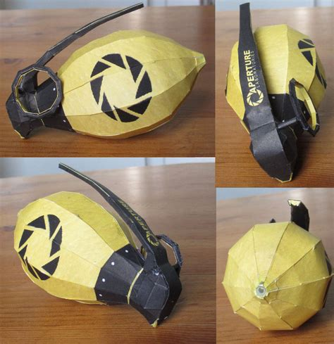 Papercraft Grenade - combustible lemon grenade papercraft by minidelirium on