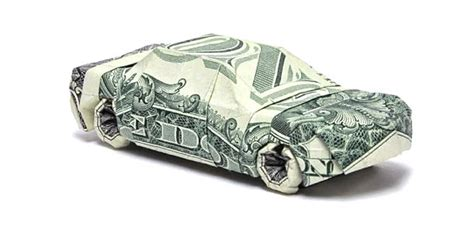Origami Money Car - 50 spectacular origami designs made from money