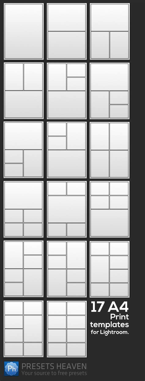 adobe lightroom templates check out these 17 a4 print templates for lightroom that i