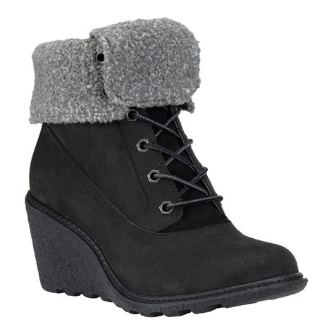 timberland amston roll top wedge boots s boots shoes