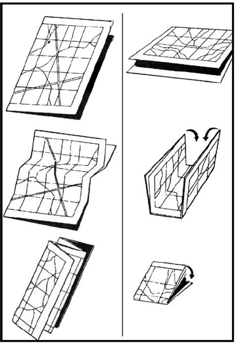 Origami Map Fold - map folding techniques armystudyguide