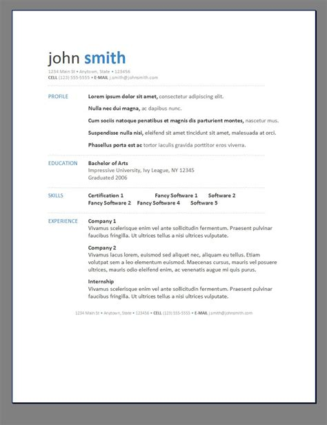 Cv Template Modern Modern Resume Posts Related To Resume Template Modern 1 Hack Modern Resume