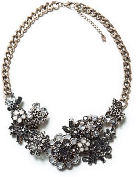 Kalung Zara Claris Necklace Grey zara multiflower necklace in gray only one lyst