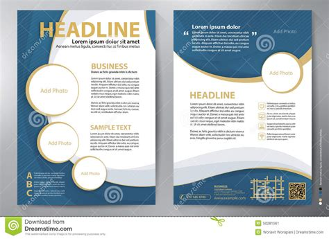 Brochure Design A4 Vector Template Stock Vector Illustration Of Folder Leaflet 50281561 Free Brochure Design Templates