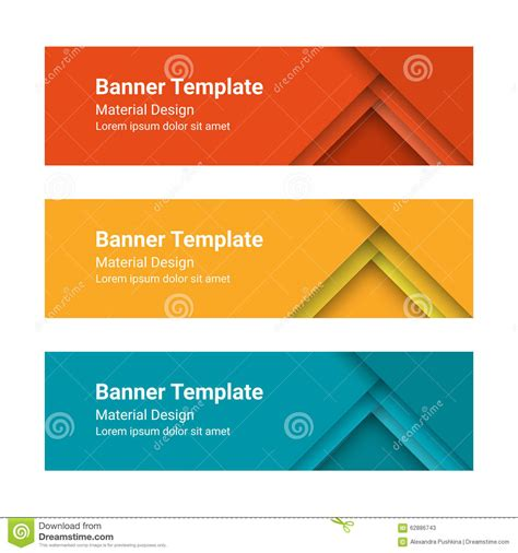 design templates for banners set of modern colorful horizontal vector banners in a