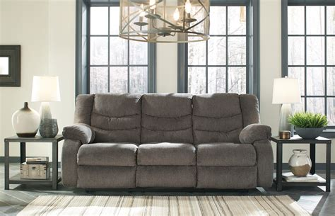 ashley furniture gray reclining sofa tulen grey reclining sofa love all american furniture