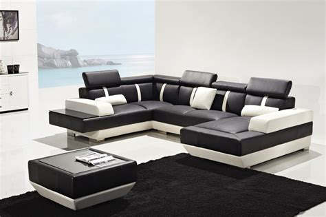 designer sofas uk designer prado black and white corner leather sofa suite