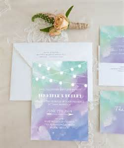 watercolor wedding invitations picture of purple and green watercolor wedding invitations