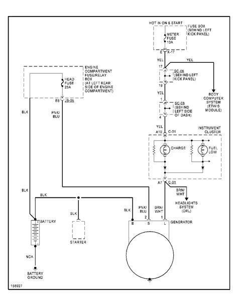 Kia Spectra Wiring Diagram 2002 Kia Spectra Alternator Will Not Charge On Startup It