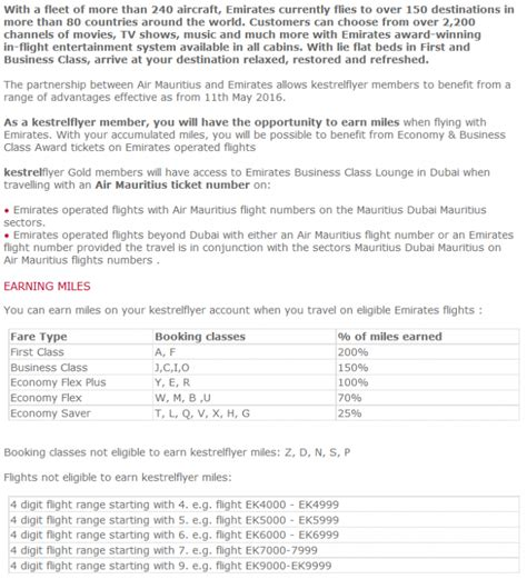 emirates loyalty program air mauritius emirates frequent flier partnership launch