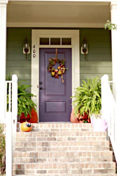 Sage Green Siding W White Trim Plum Front Door For Plum Front Door