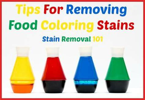 remove food coloring from how to remove a food coloring stain