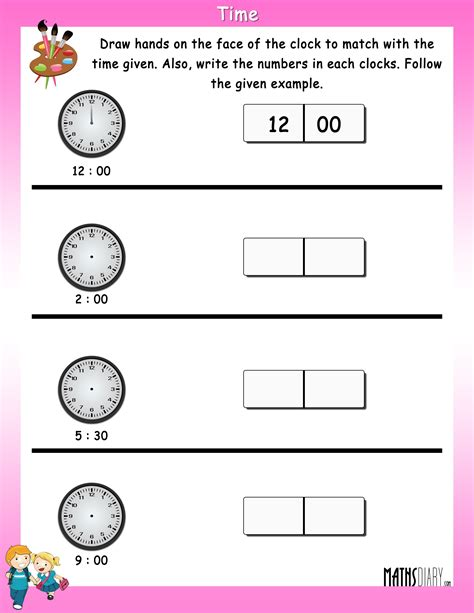 important time worksheets for grade 1 goodsnyc