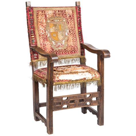 armchair in spanish spanish baroque walnut armchair for sale at 1stdibs