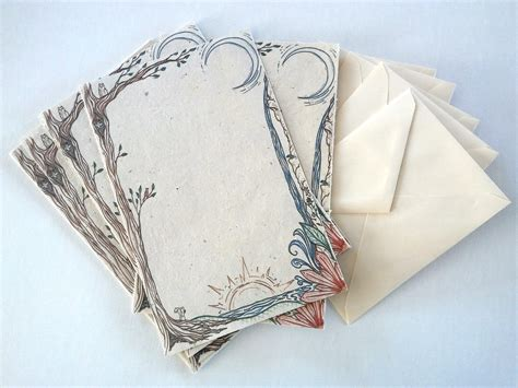 Handmade Letter Paper - stationary letter writing set handmade paper