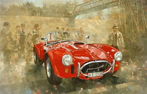 painting for cars cobra at brooklands painting by miller