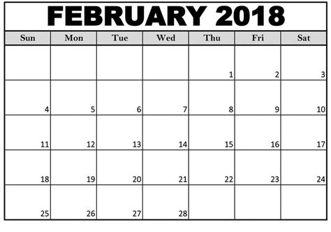 february  calendar printable     pictures  greepx