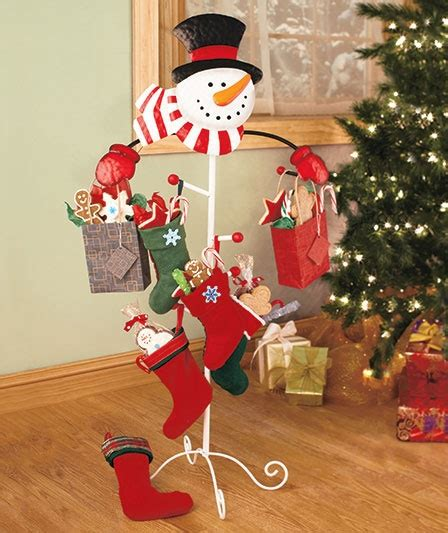 love this alternate way of hanging stockings or even