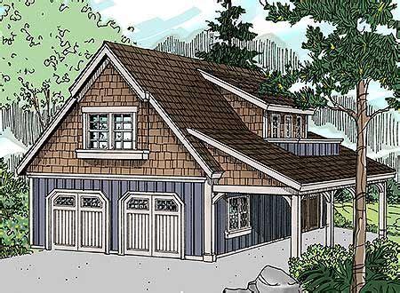 plan 72816da craftsman garage with living area and shop